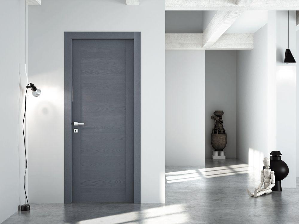 FBP porte  Collezione LAURA Mod 309 Essenza rovere  Colore semicoprente laccato grigio