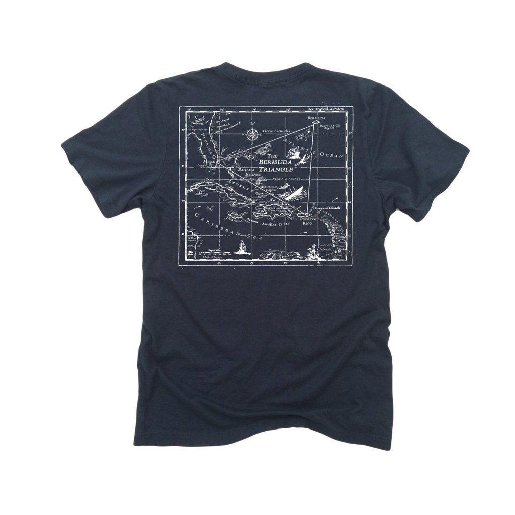 Bermuda Triangle ll: Fine Jersey Short Sleeve T-Shirt in black