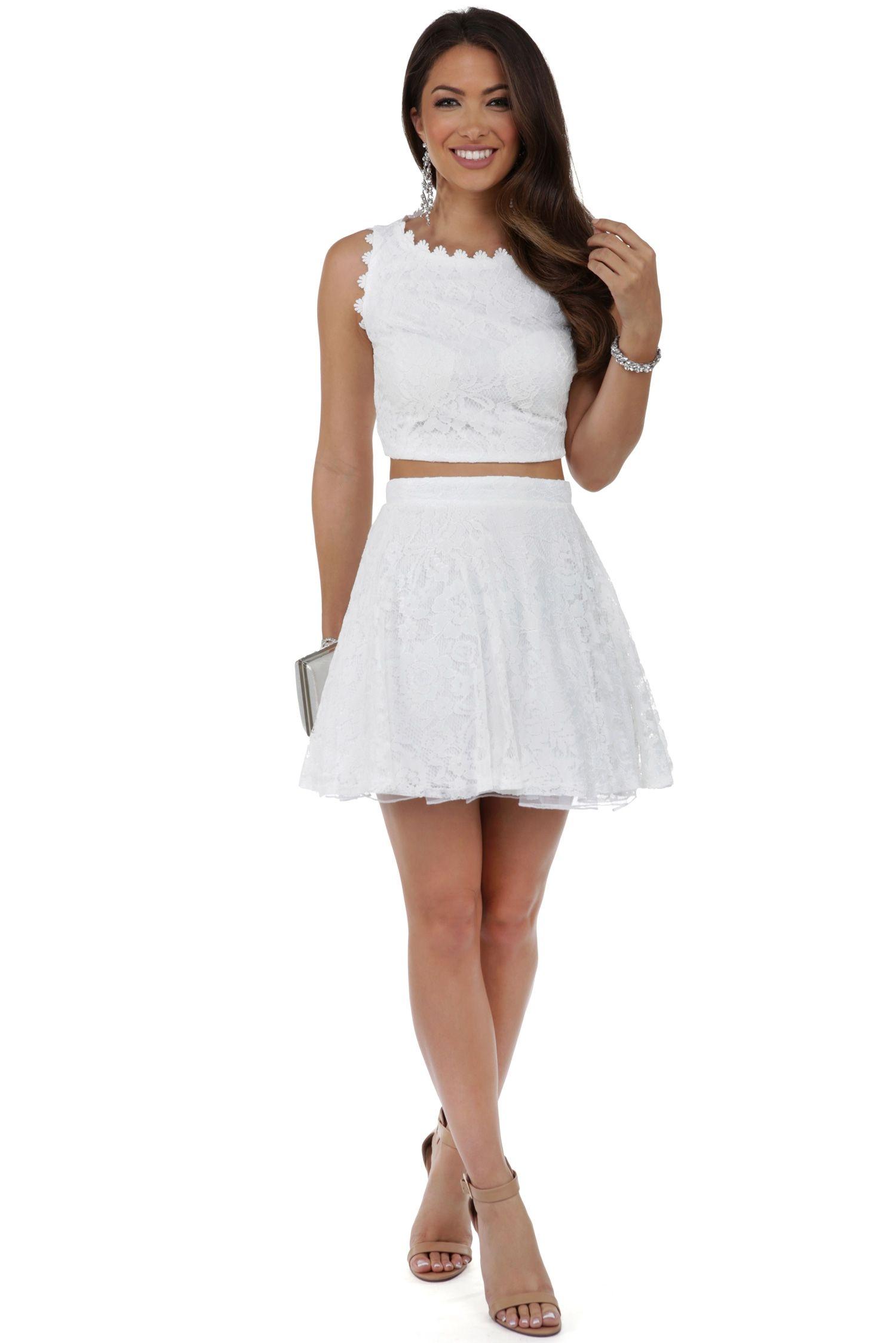 Belle Ivory Two Piece Prom Dress   windsor   Reception Dresses ...