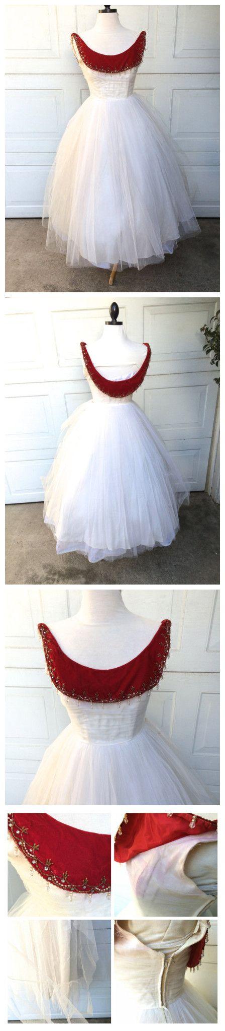 Aline scoop short prom dress burgundy white tea length prom dresses