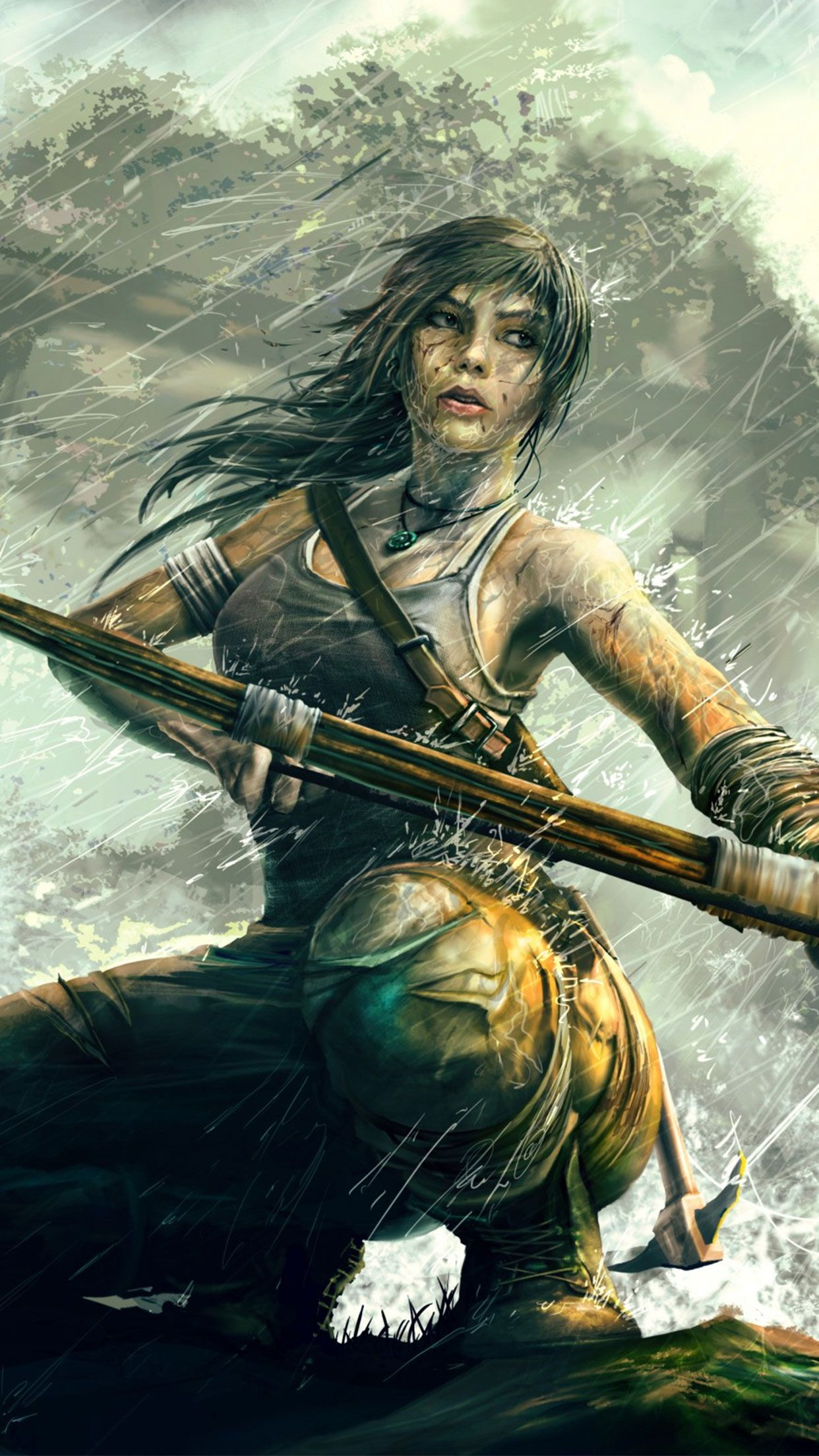 Arte Grafica Lara Tomb Raider Lara Croft Game Wallpaper For Iphone Android