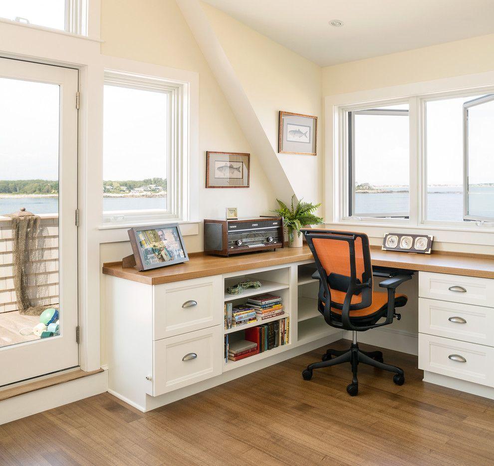 built in corner desk in Home Office Beach with built in biddeford ...