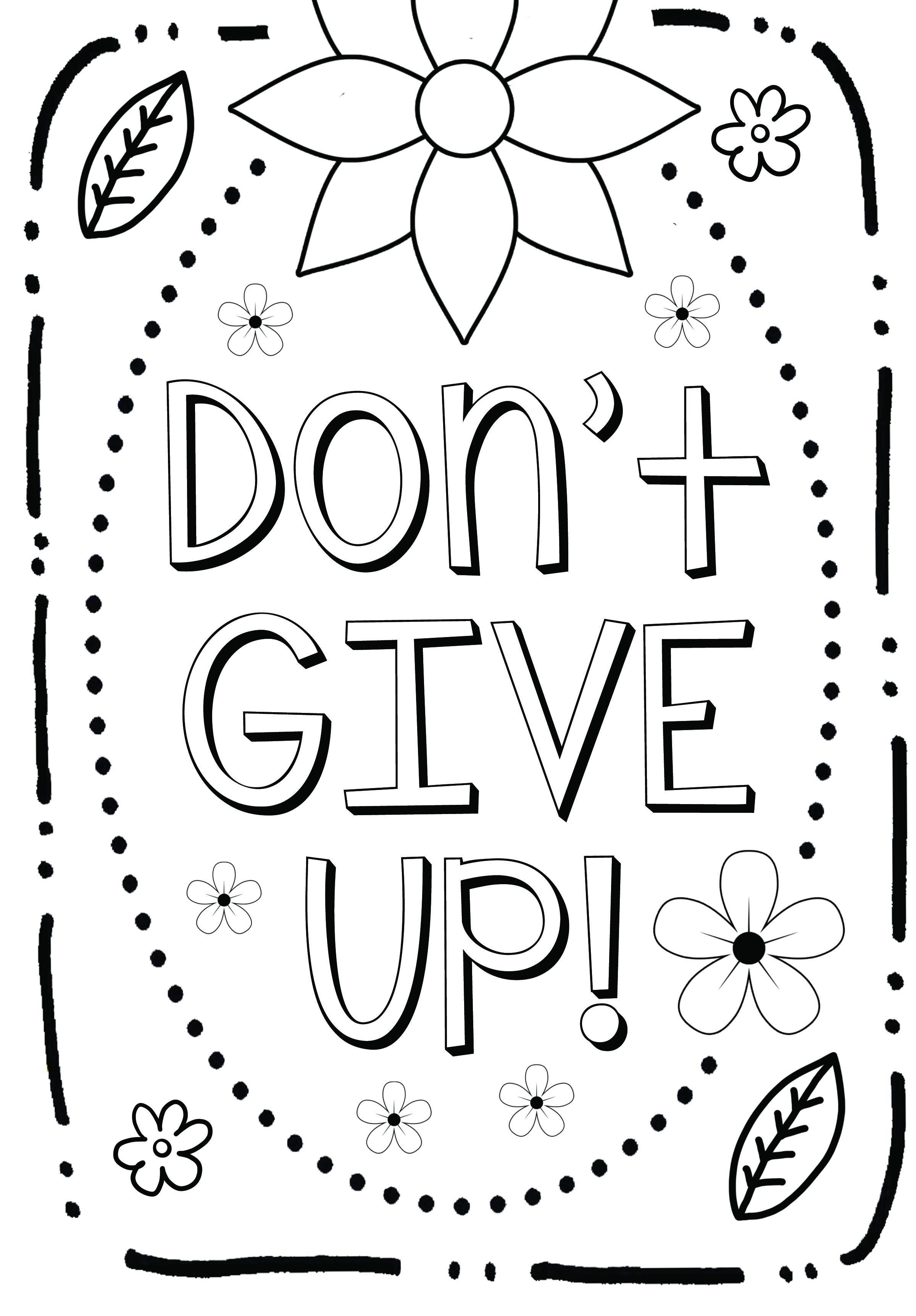 Free Coloring Page Growth Mindset Quote Coloring Pages Free