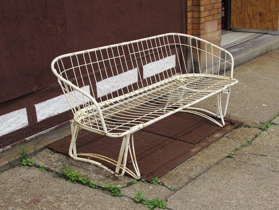 Vintage Homecrest Metal Glider Patio Or Porch Loveseat Sofa Furniture Pittsburgh Area
