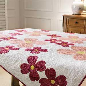 Laural Home Flowering Dogwood Blossoms Comforter | Applique quilts ... : dogwood quilt pattern - Adamdwight.com