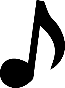 Musical Note We Used This Template On Chalk Paper And Card Stock