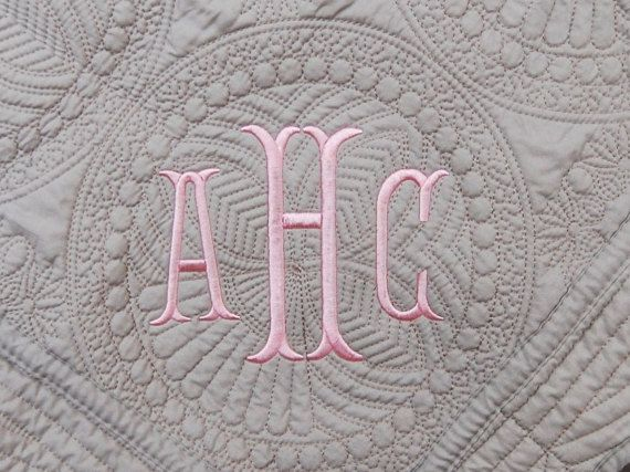 Gray quilt new baby gift monogram quilt 36 x 46 inches gray gray quilt new baby gift monogram quilt 36 x 46 inches gray baby blanket personalized baby quilt baptism gift negle Image collections