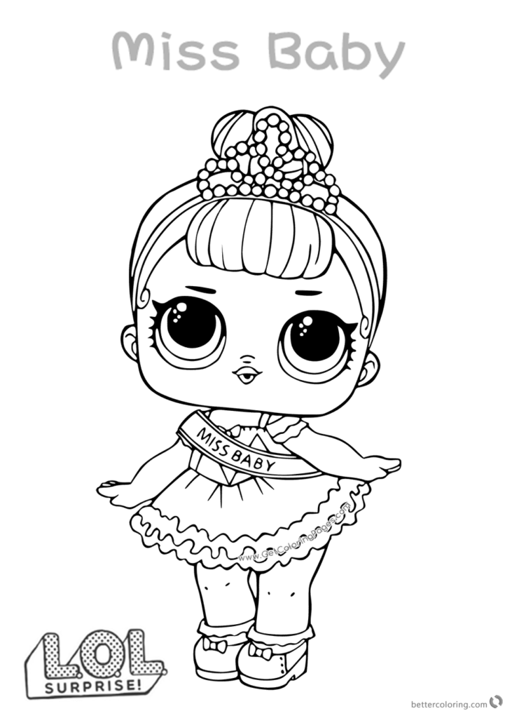 How To Draw Miss Baby Lol