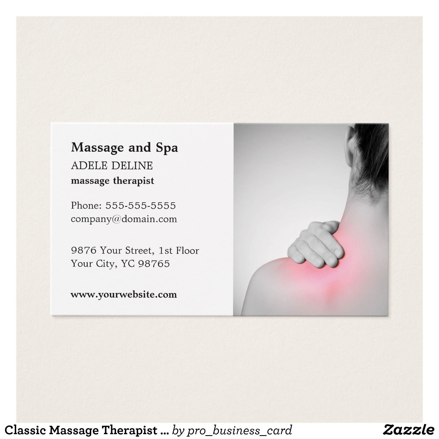 Classic Massage Therapist Business Card Template Zazzle Com Massage Therapy Business Cards Massage Therapy Business Massage Therapy
