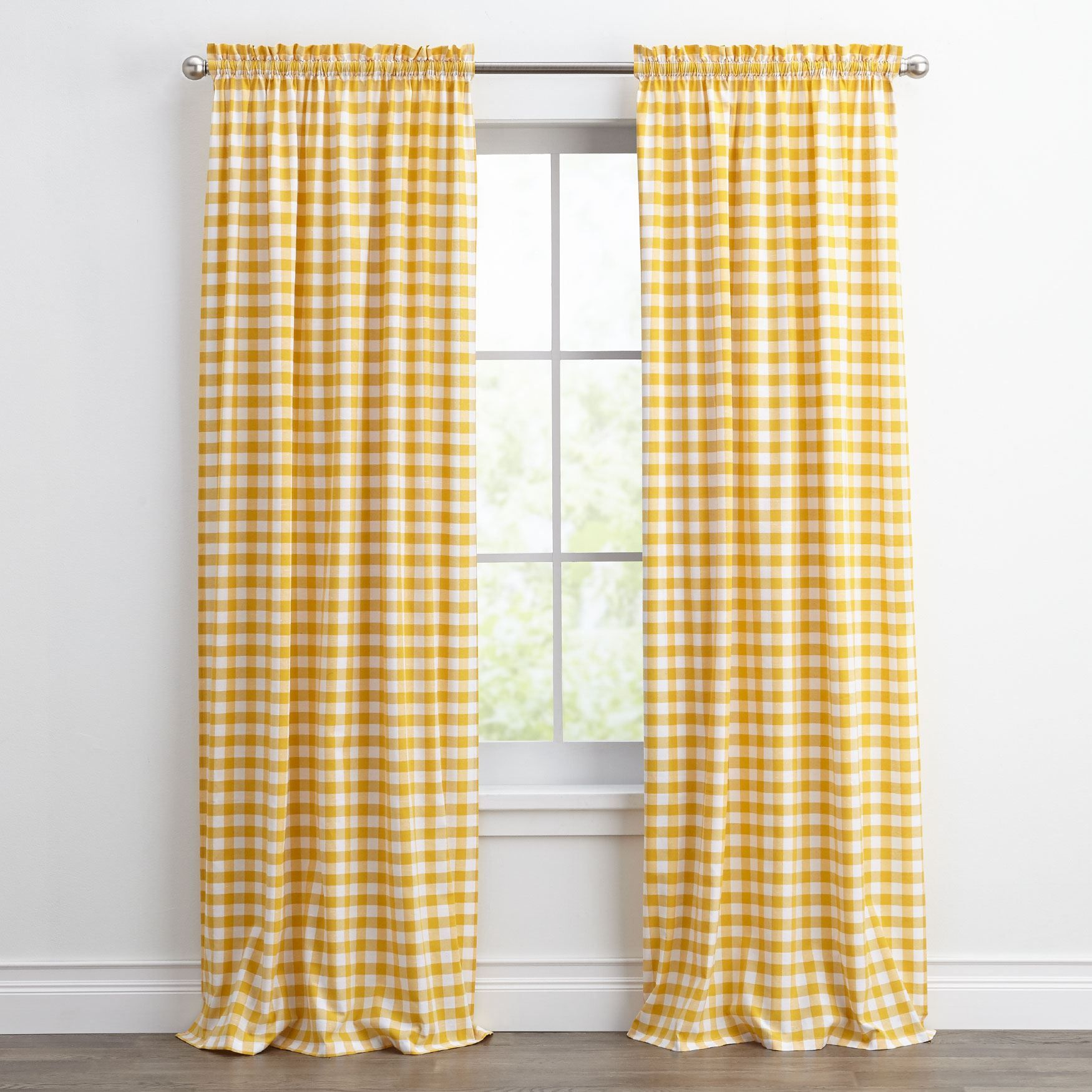 Buffalo Plaid Curtain Yellow Buffalo Plaid Curtains Plaid Curtains Curtains