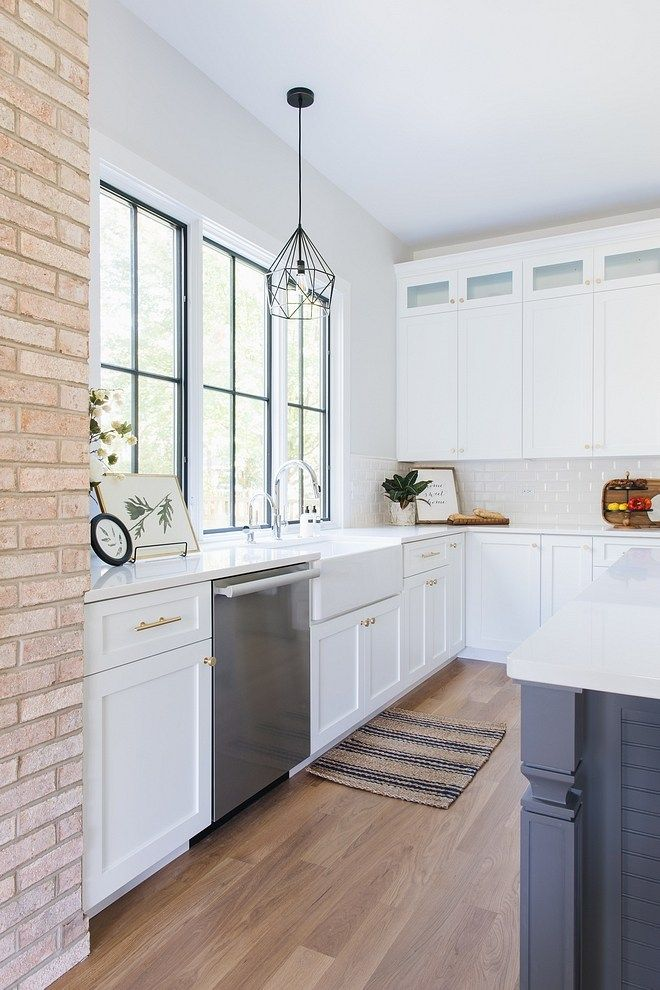Corner Lot Modern Farmhouse Kitchen White