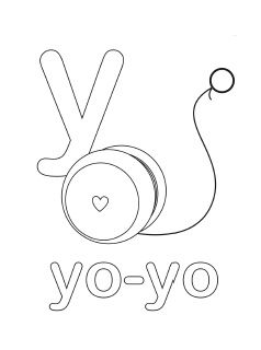Alphabet Coloring Pages Letter Y