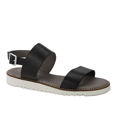 Another great find on #zulily! Gray Marcia Leather Sandal #zulilyfinds