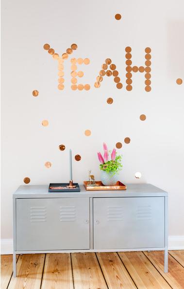 Kupfer Konfetti kupfer konfetti copper confetti wallstickers 10 für 9 90 30
