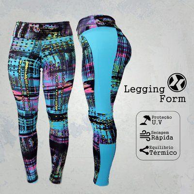 19f35fd5ffd9b Legging Fitness com recortes e combinações de cores - Modelo Style ...