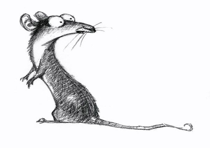 Living Lines Library: Ratatouille (2007) - Concept Art, Fun rat drawing by Peter De Seve