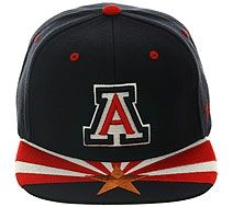 separation shoes 691fd 08239 Zephyr Arizona Wildcats Flag Snapback Hat - Navy, Red, White