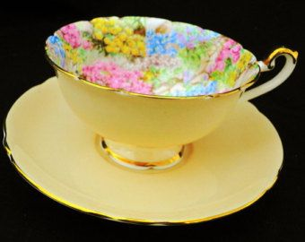 Shelley LATE FOLEY purple cornflower dainty by simplytclubhouse