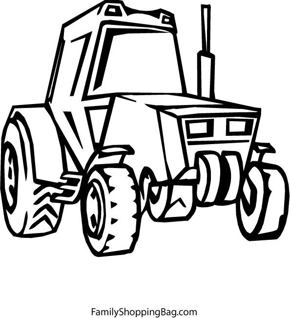 John Deere Color 4 Coloring Pages | Work | Pinterest