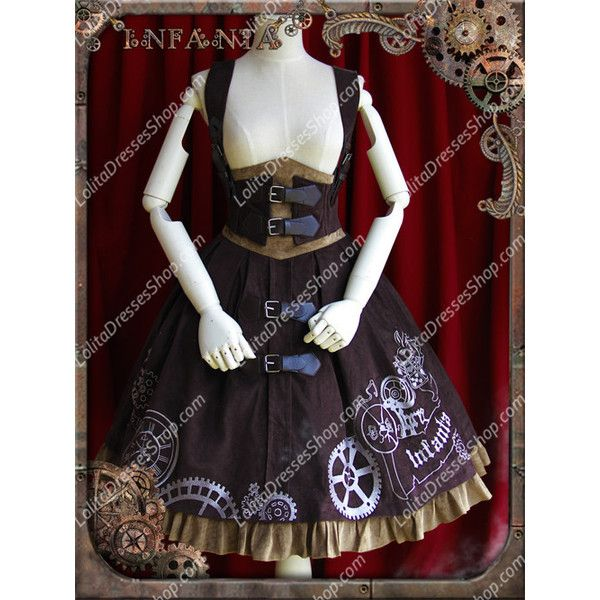Sweet Cotten Infanta JSK Lolita Supporting breast skirt ($96) via Polyvore featuring skirts