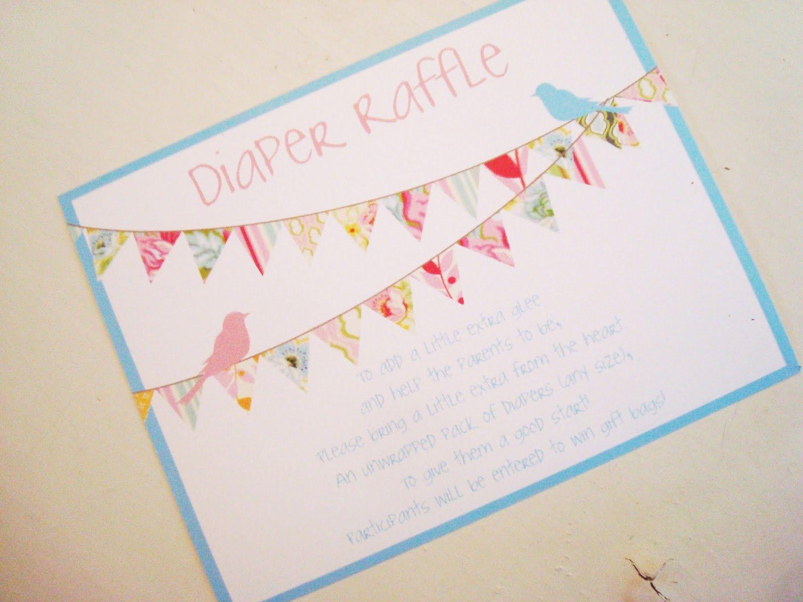 Diaper raffle wording | Baby Sprinkle Inspiration | Pinterest ...