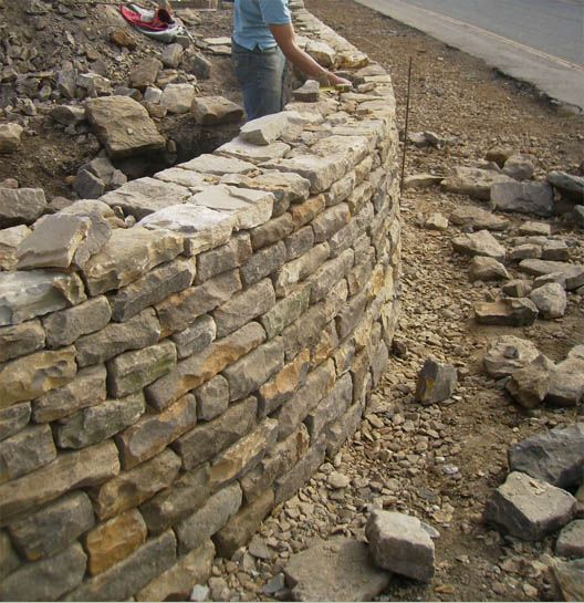 Garden Landscaping In Halifax Huddersfield West: Stacked Stone Walls, Dry Stone