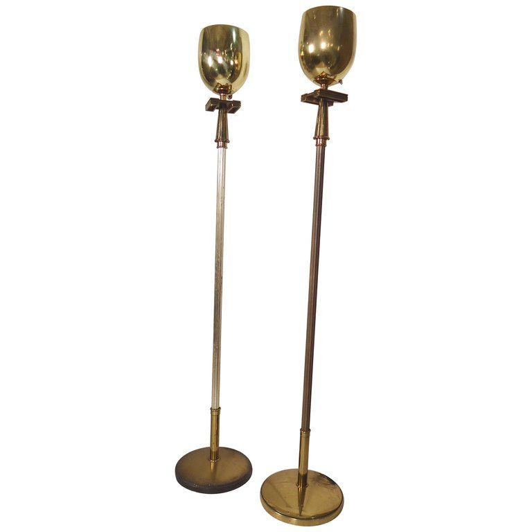 Pair Of Brass Torchiere Lamps Brass Floor Lamp Torchiere Lamp Bronze Floor Lamp