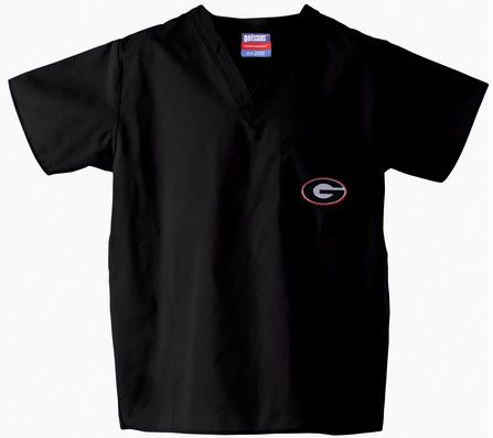 a388b3d4438 University of Georgia Scrub Top in Black | University of Georgia ...