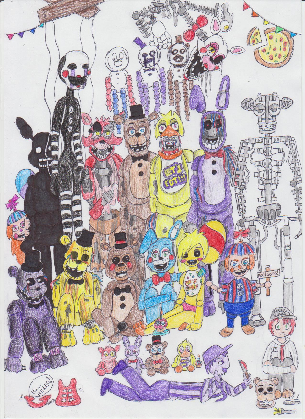 all fnaf characters - Google Search | Drawings | Fnaf drawings, Fnaf