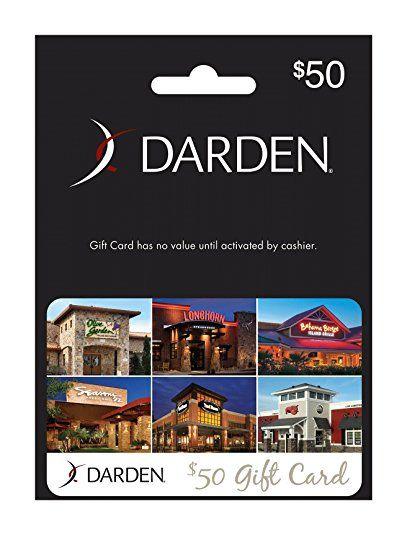 Darden Restaurants 50 Gift Card