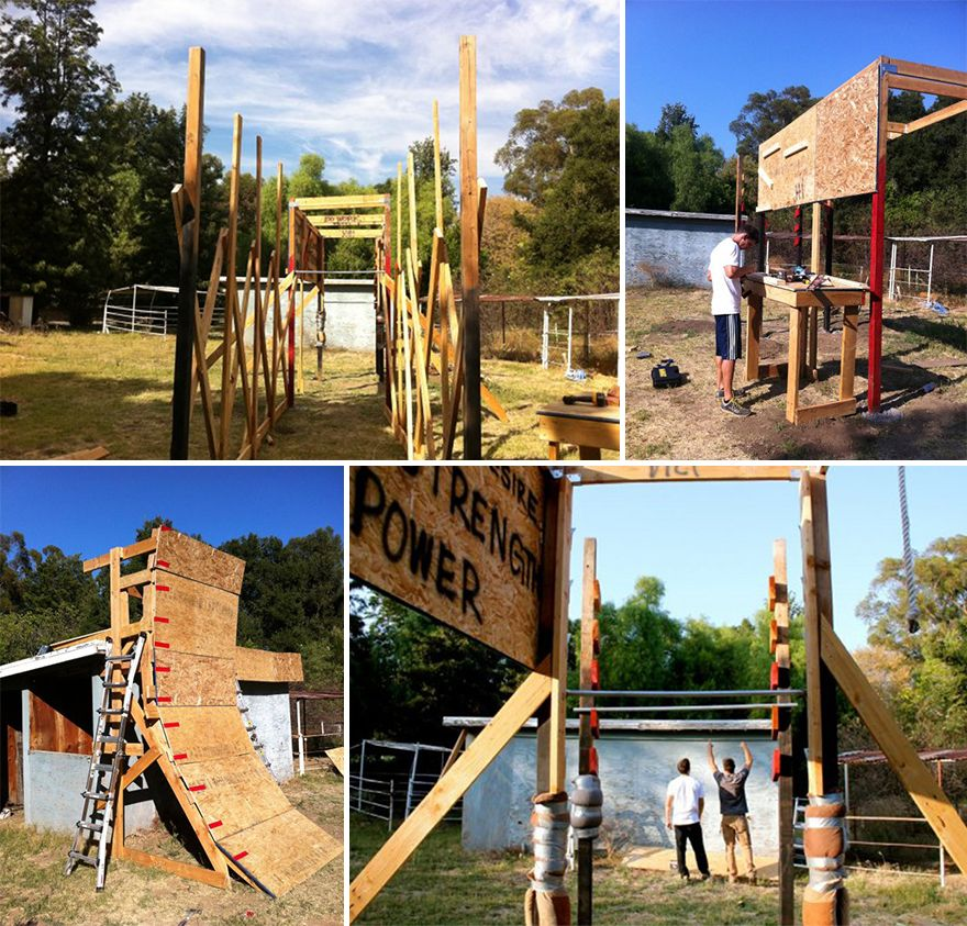 The build it your self obstacle course its like a giant for Diy jungle gym ideas