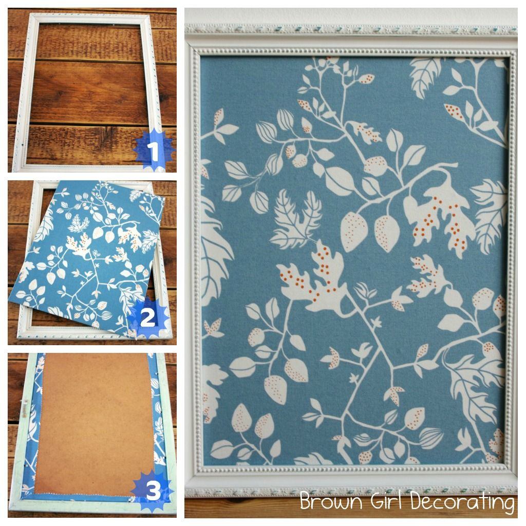 Brown Girl Decorating: Updating a Thrift Store Magnet Board (Tutorial)
