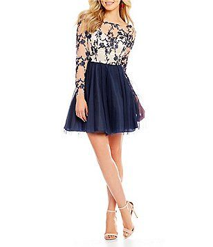 2540568a057 Dear Moon Embroidered Bodice Fit-And-Flare Dress