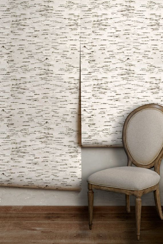 Birch Bark Easy To Apply Removable Peel N Stick Wallpaper Etsy Birch Bark Birches Wallpaper Peel N Stick Wallpaper