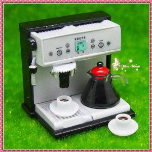 Dollhouse Miniature Espresso Coffee Pot