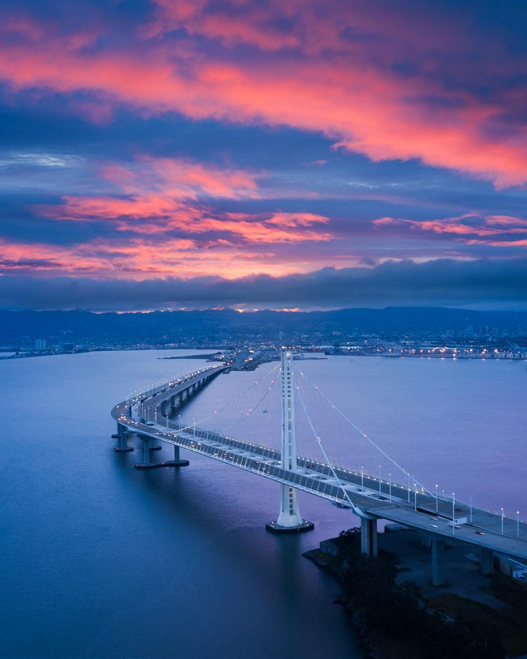 Blue Hour Over The San Francisco Bay Bridge. #city #cities