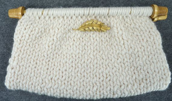 Knit Lined Clutch Purse