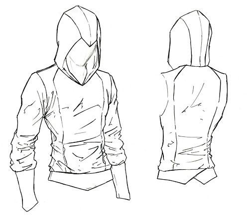 Assassin S Creed Hoodie Sewing Pattern Sewing Patterns Drawings