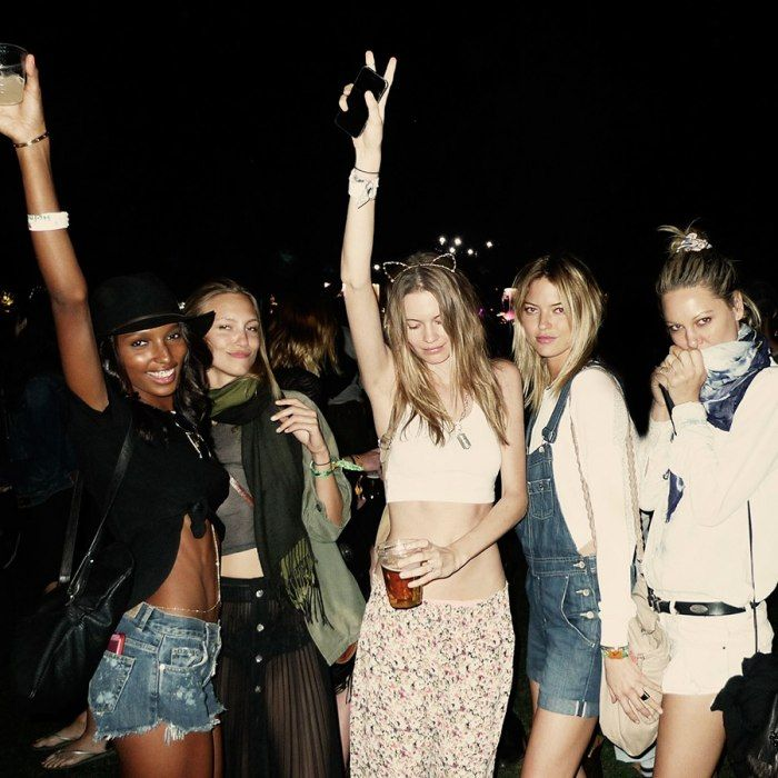 Model Martha Hunt in our Heather Overalls on her Coachella Diary | Vanity Fair