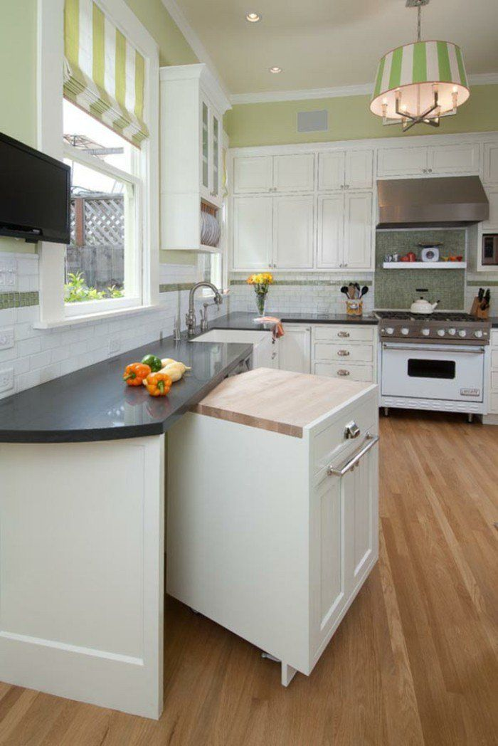 Aménager Une Petite Cuisine Idées Pour Le Design Magnifique - Ilot central dans petite cuisine pour idees de deco de cuisine