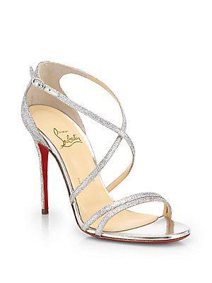 02eb3ad4632 Christian Louboutin Gwynitta Glitter Sandals - pretty, don't like ...