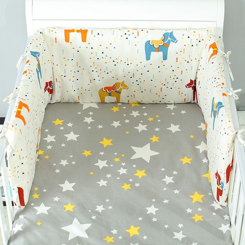 Baby Bed Crib Bumper U Shaped Detachable Zipper Cotton Newborn Bumpers Infant Safe Fence Line Bebe Cot 160x In 2020 Baby Cot Bedding Baby Bedding Sets Cot Bedding Sets