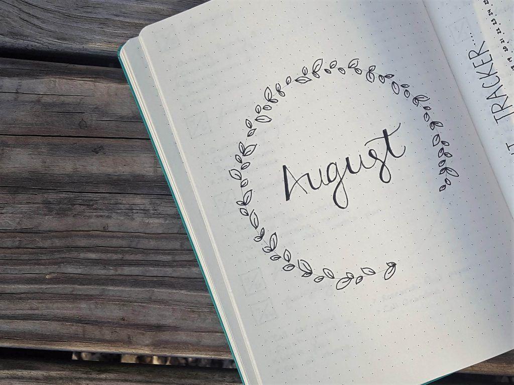 My Minimalist Bullet Journal #augustbulletjournal