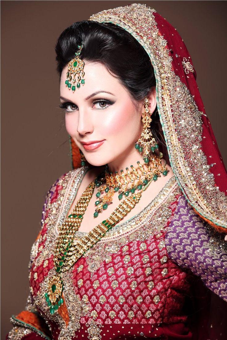 AISHA LINNEA AKHTAR Indian bridal makeup, Pakistan bride