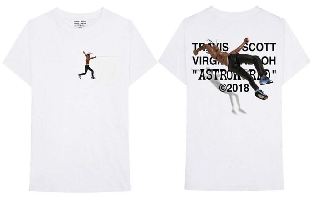 Details about Travis Scott x Virgil Abloh By A Thread Tee ...