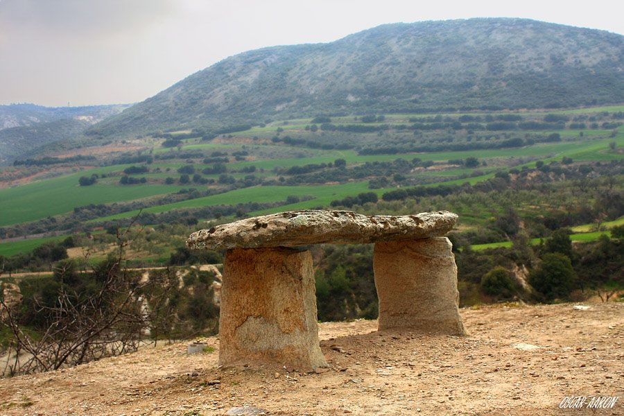 """""""Neolithic table"""", or altar? Sesklo A, Volos, Greece. 22th February 2014."""