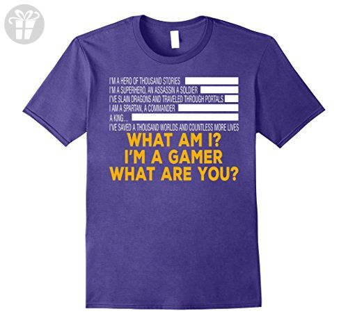 Mens Funny gamer shirt I'm a gamer What are you? 3XL Purple - Funny shirts (*Amazon Partner-Link)