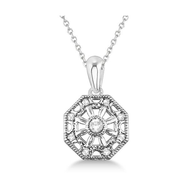 Allurez designer vintage diamond pendant necklace sterling silver allurez designer vintage diamond pendant necklace sterling silver 145 liked mozeypictures Image collections