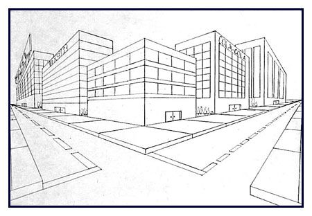 Perspective Drawings Of Buildings two point building | perspective | pinterest | perspective