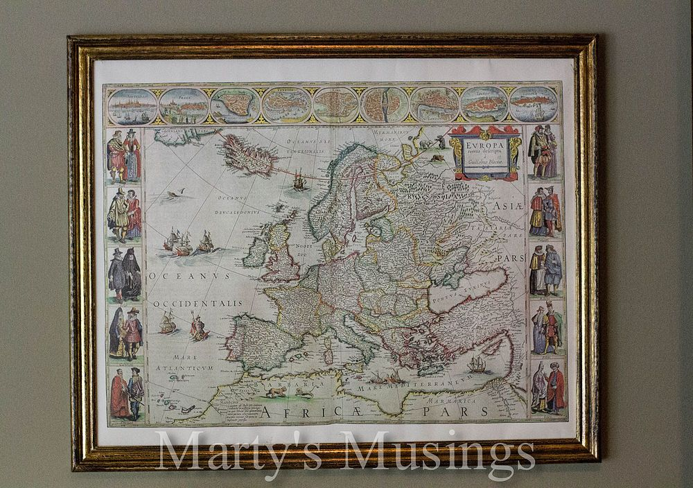 Decorate With Old Maps And A Vintage Look Frame Old Maps Map Decor